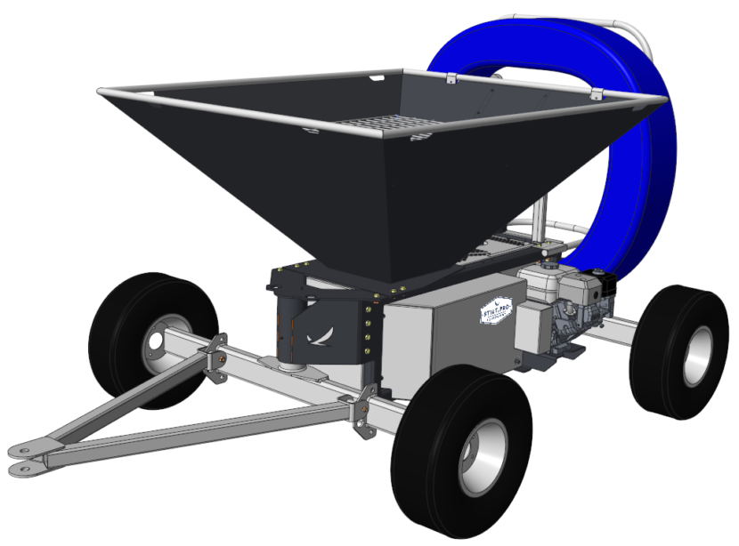 Front View of Rice Hull Blower