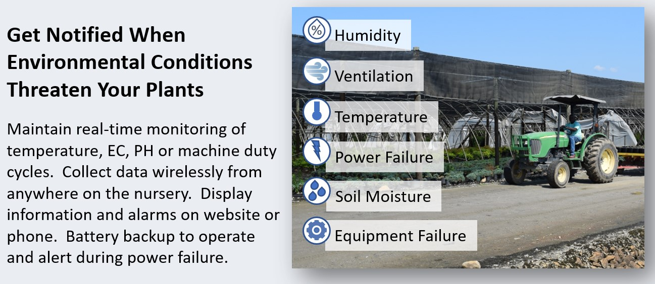 Environmental Condition Monitoring Wholesale Nursery